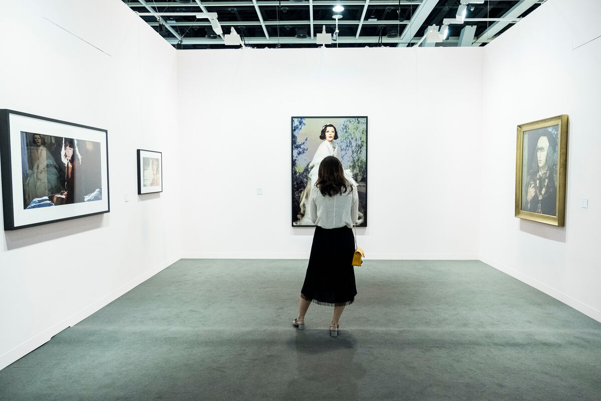 Installation view of Metro Pictures's booth at Art Basel in Hong Kong, 2018. © Art Basel. Courtesy of Art Basel.