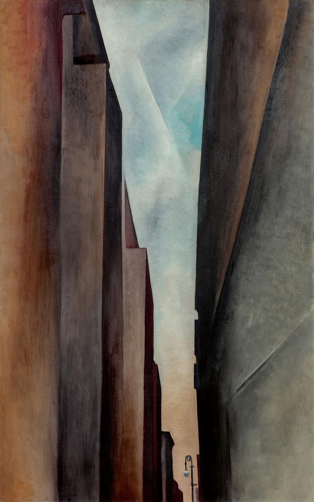 Georgia O'Keeffe, A Street, 1926. Est. $12–18 million. Courtesy Sotheby's