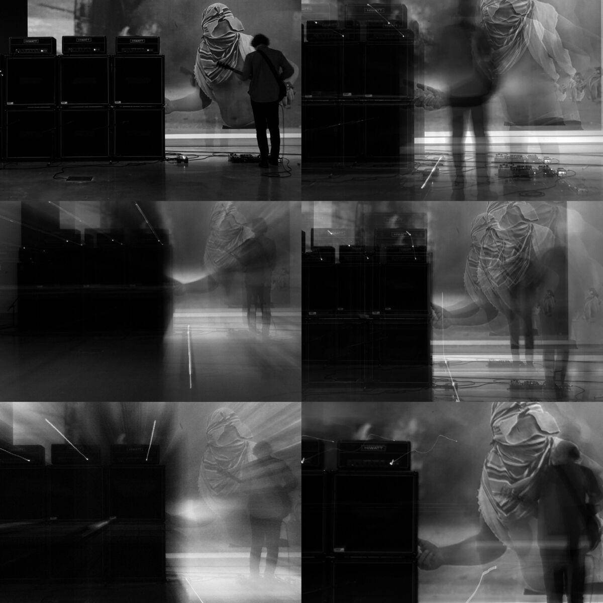 Marco Fusinato, performance view of SPECTRAL ARROWS: Melbourne at Buxton Contemporary, Melbourne, 2018. © Marco Fusinato. Photo by Renato Colangelo. Courtesy of the artist and Anna Schwartz Gallery.