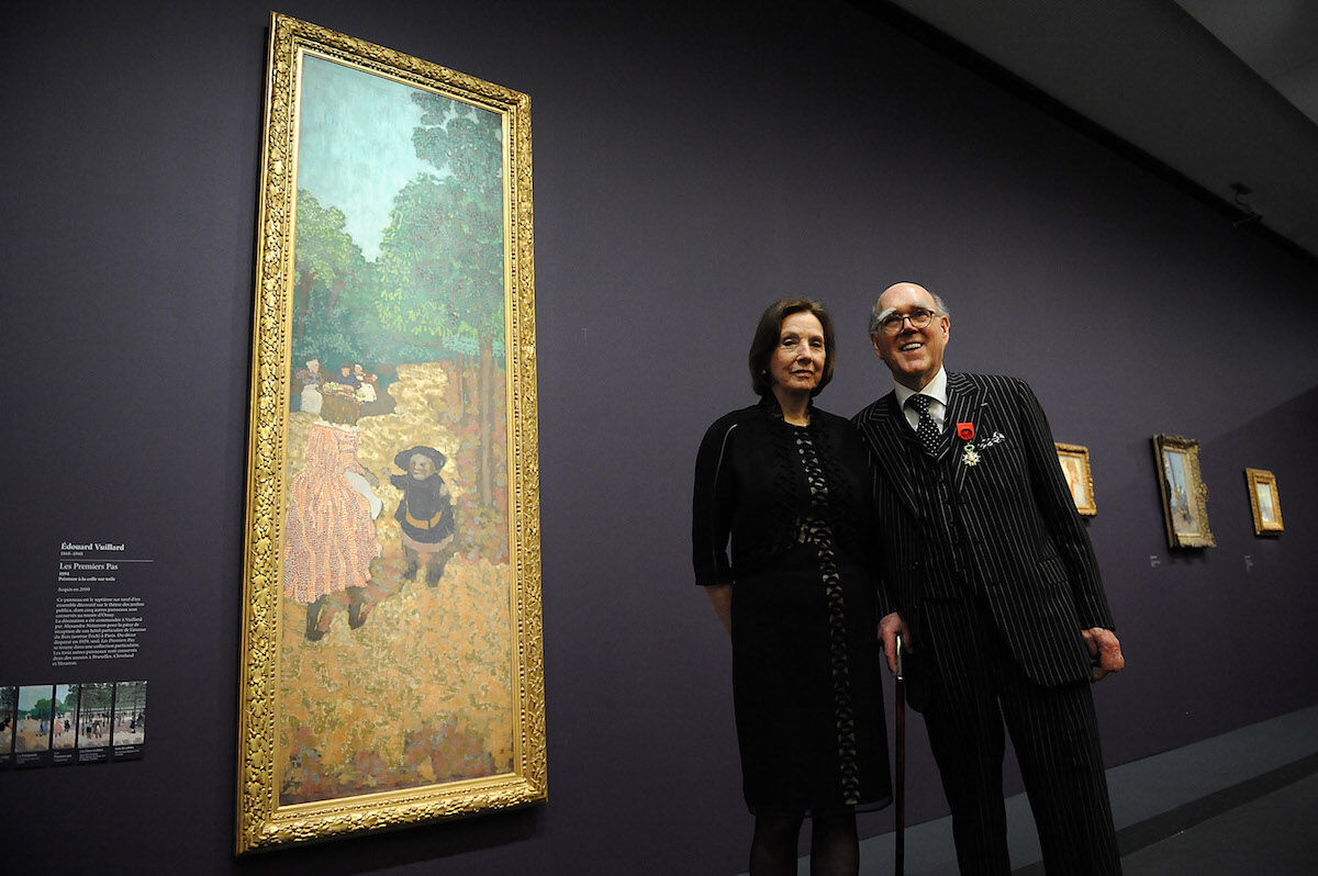 Marlene and Spencer Hays at the Musée d'Orsay in 2013. Photo by Antoine Antoniol/Getty Images.