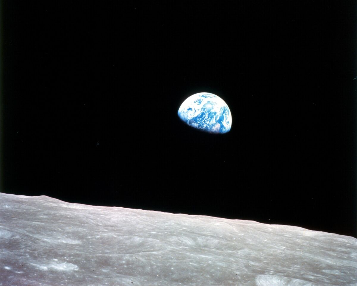 William Anders, Earthrise, 1968. Photo via NASA.