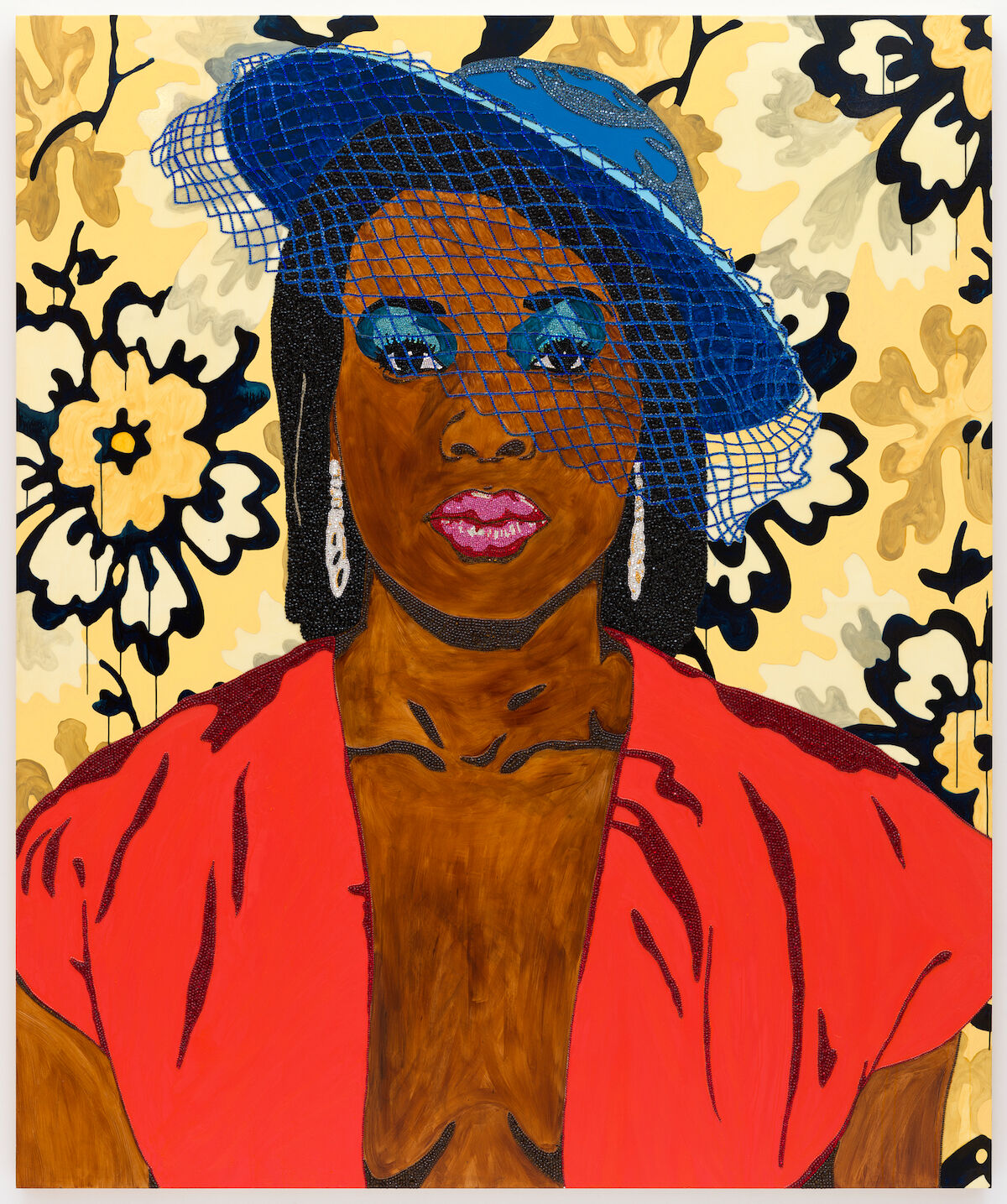 Mickalene Thomas, Qusuquzah, une très belle négresse 1, 2011. San Francisco Museum of Modern Art, purchase, by exchange, through a gift of Peggy Guggenheim. © Mickalene Thomas / Artists Rights Society (ARS), New York. Photo by Katherine Du Tiel.