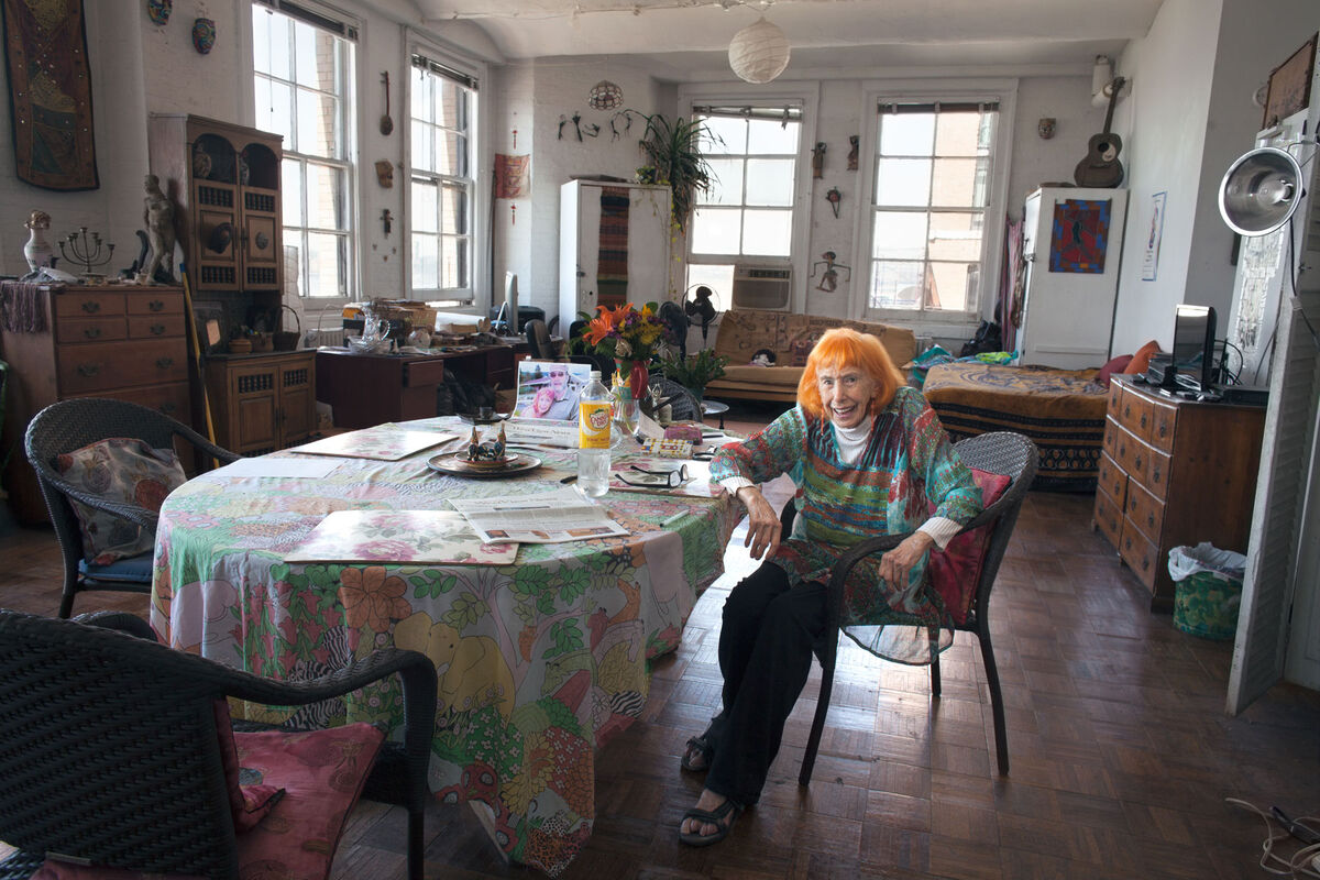 Edith Stephen, 98, a dancer, choreographer, and documentary filmmaker, moved into the complex the year that it opened, when she was 50 years old. Her 2010 film Split/Scream, A Saga of Westbeth Artist Housing turned the lens on Westbeth. Photo by Frankie Alduino.