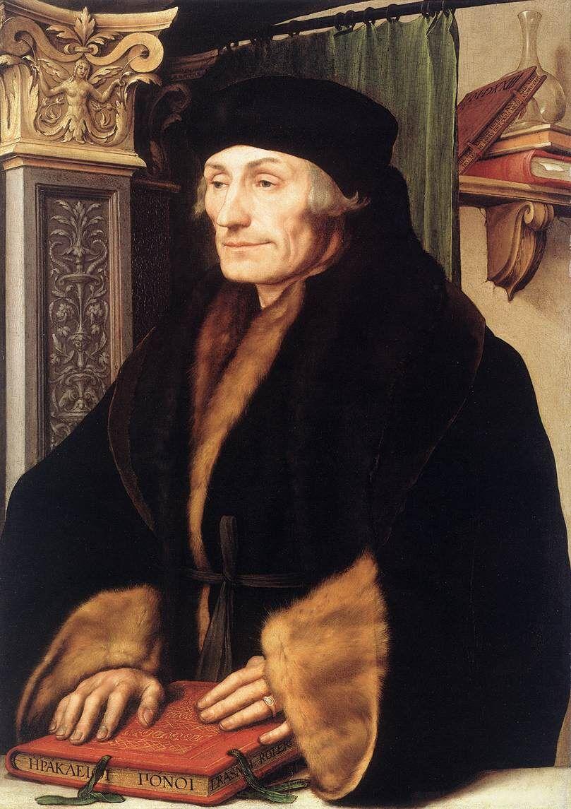 Hans Holbein, Portrait of Erasmus, 1523. Image via Wikimedia Commons.