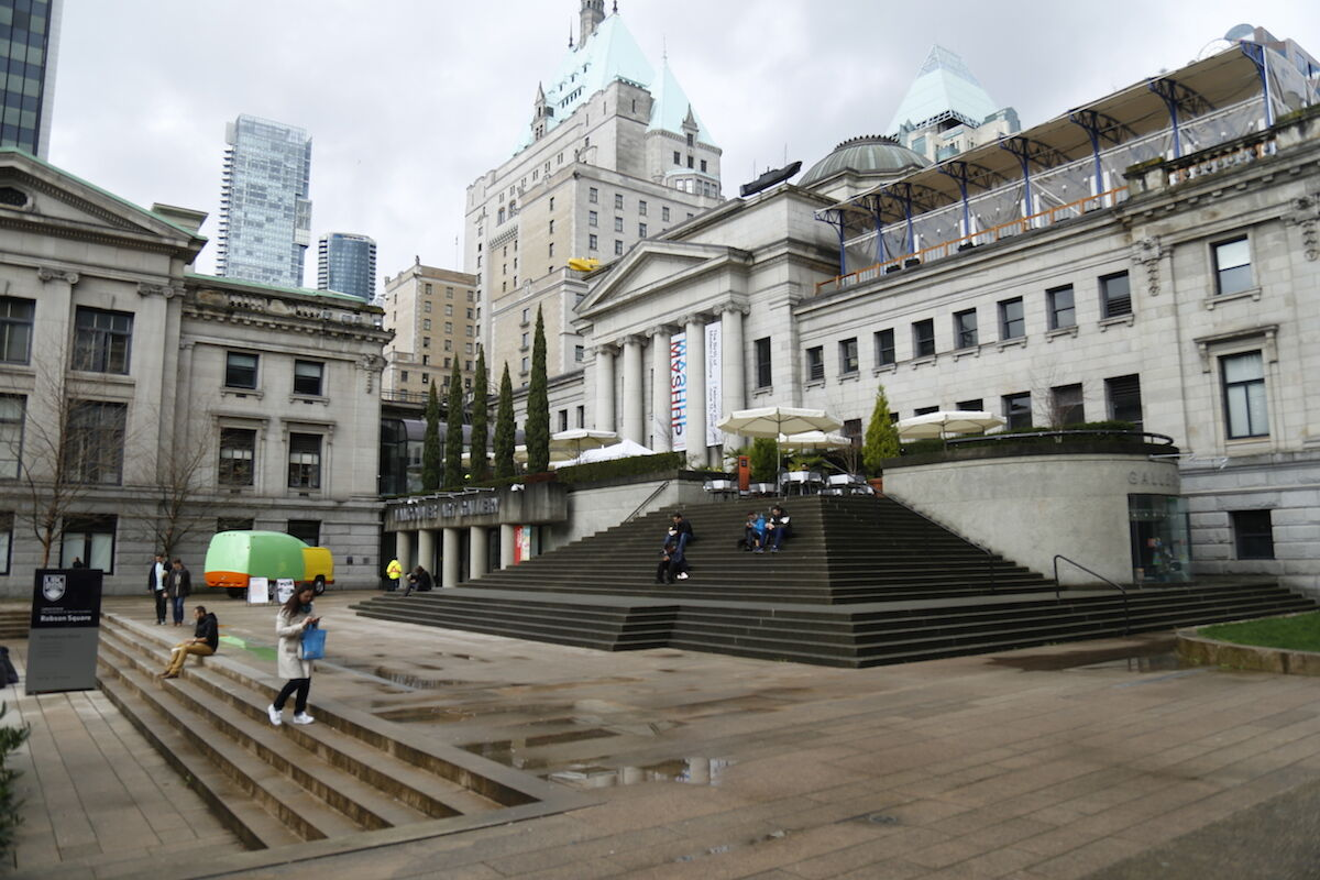 The Vancouver Art Gallery. Photo by Ueutyi, via Wikimedia Commons.