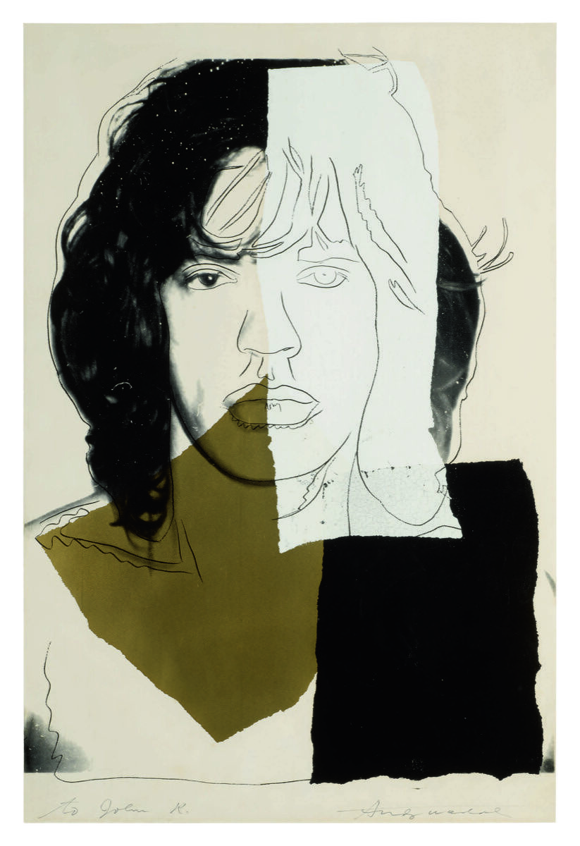 Andy Warhol, Mick Jagger, 1975. Courtesy of Sotheby's.