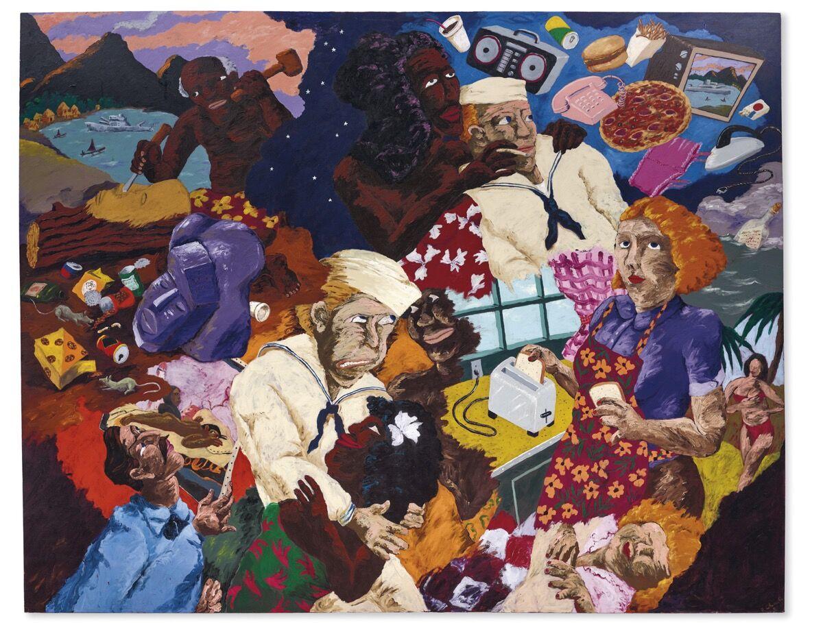 Robert Colescott, Cultural Exchange, 1987. Courtesy of Christie's.