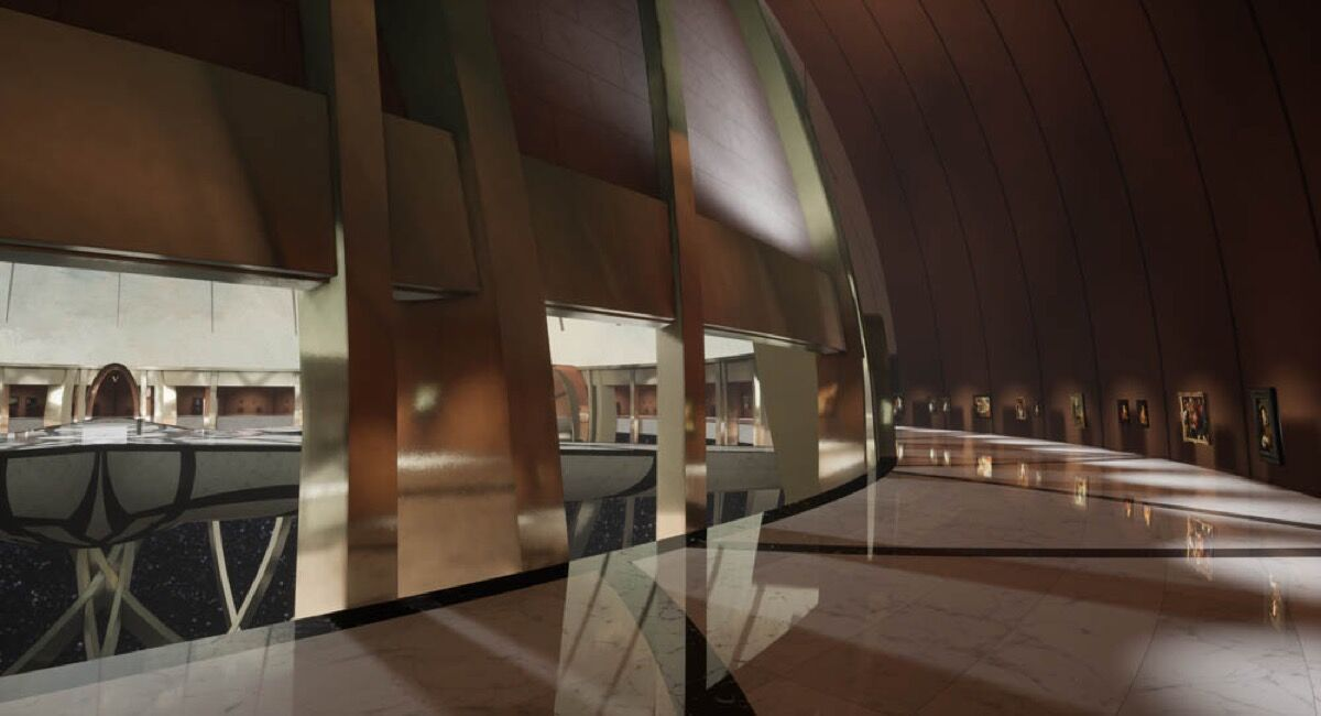 View of the Kremer Collection's virtual reality museum. Courtesy of the Kremer Collection.