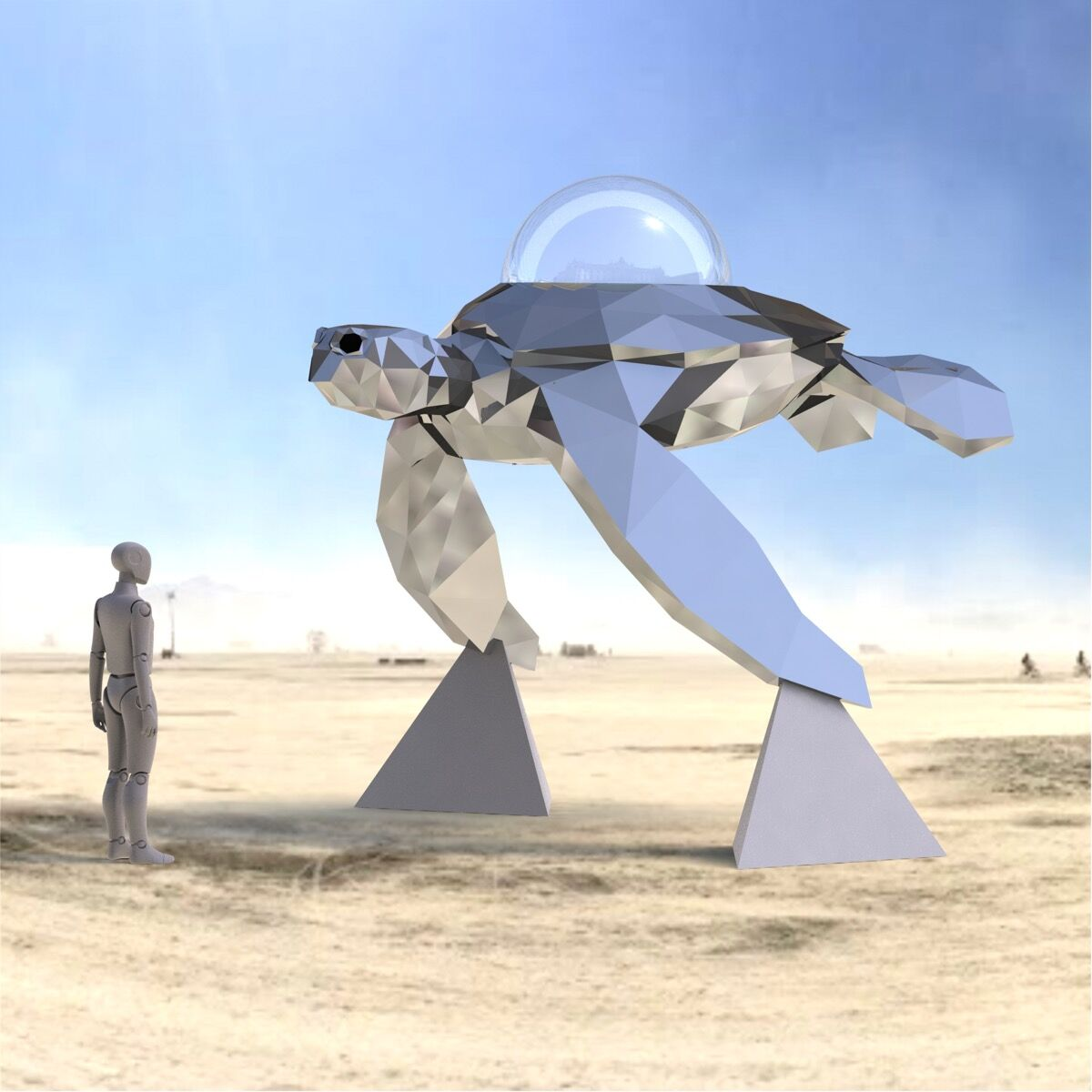 Render view of Martin Taylor and The Chromaforms Collective, Cosmic Voyager, 2018. Courtesy of the artist.