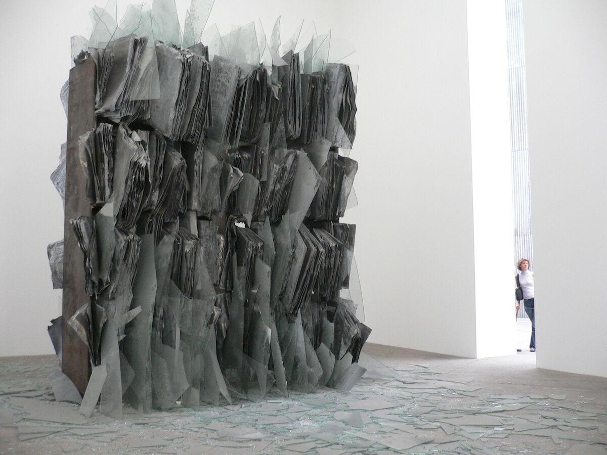 A metal and glass sculpture by Anselm Kiefer. Photo by Raphaël Labbé, via Flickr.