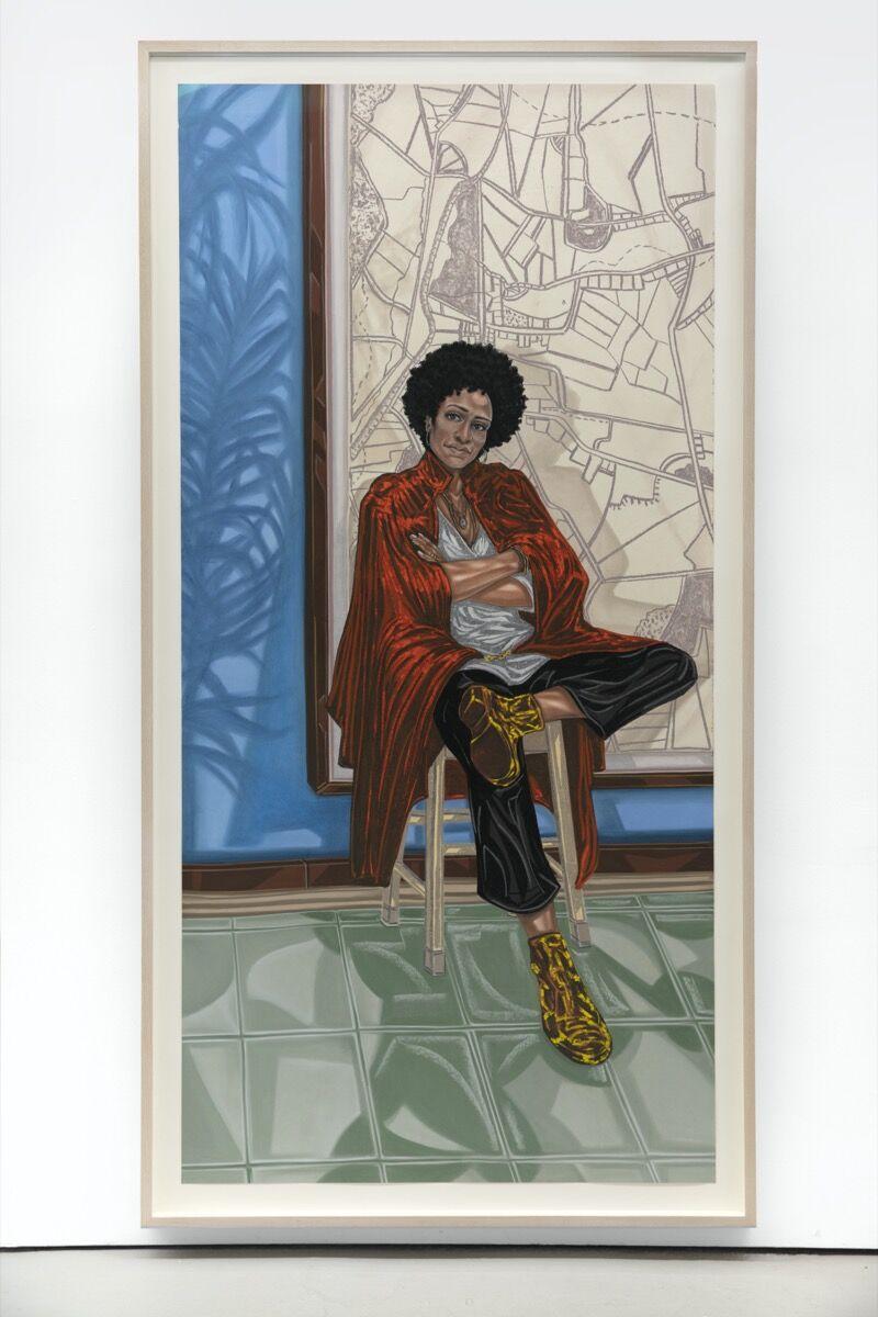 Toyin Ojih Odutola, Sadie (Zadie Smith), 2018-19. © Toyin Ojih Odutola. Courtesy of the artist and Jack Shainman Gallery, New York.