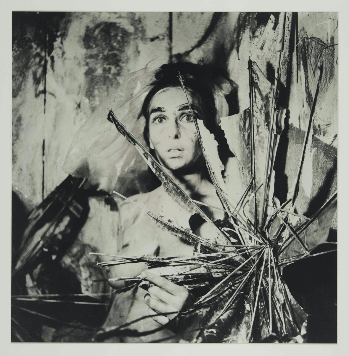 """Carolee Schneemann, from the series """"Eye Body: 36 Transformative Actions for Camera,"""" 1963 / 2005. © Carolee Schneemann. Courtesy of the Estate of Carolee Schneemann, Galerie Lelong & Co., Hales Gallery, and P•P•O•W, New York."""