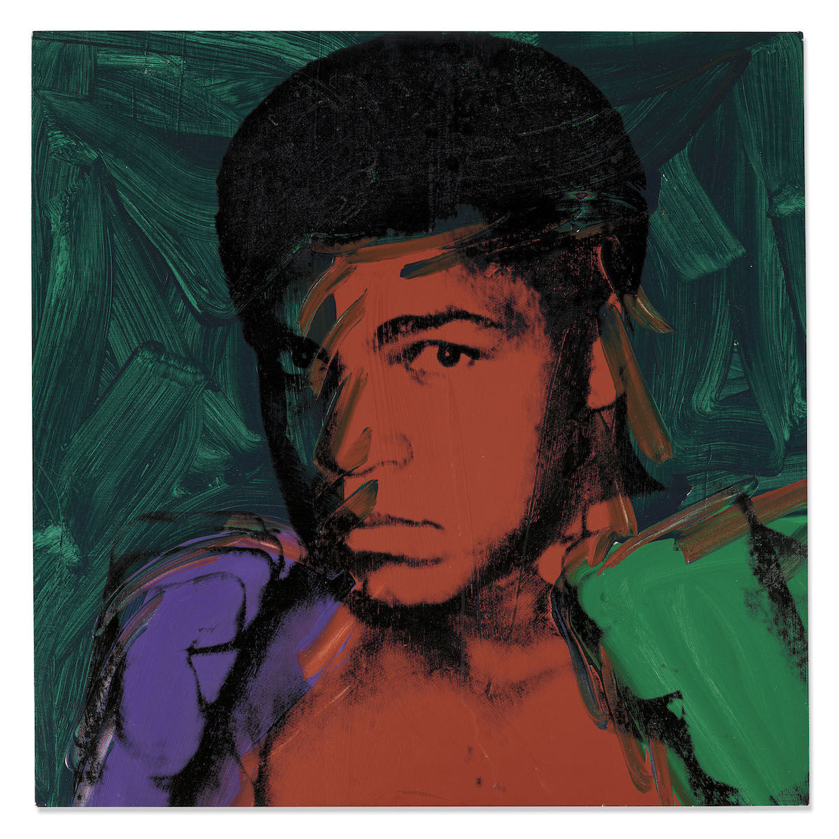 Andy Warhol, Muhammad Ali, 1977. Sold for £4.9 million ($6.3 million). © Christie's Images Limited 2020.