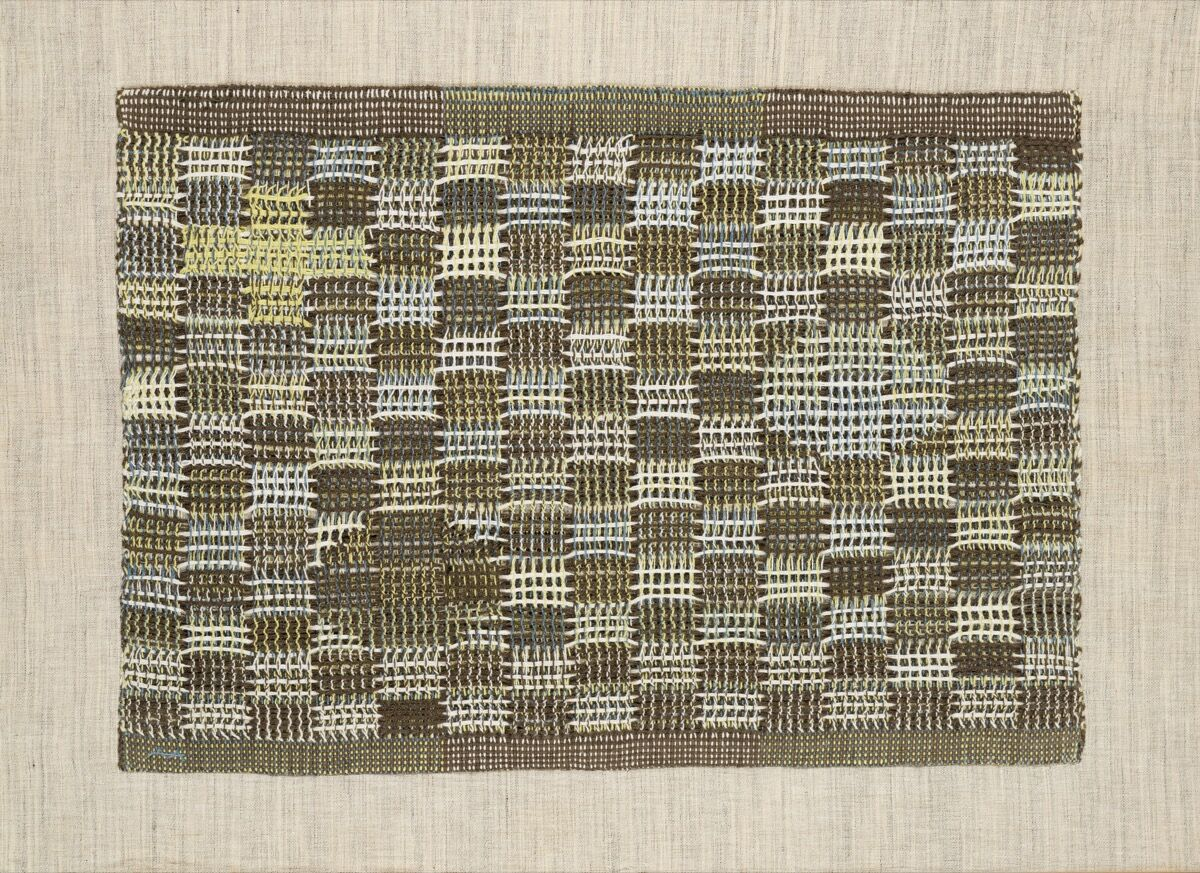 Anni Albers,  In Orbit  , 1957. © 2018 The Josef and Anni Albers Foundation / Artists Rights Society (ARS), New York. Courtesy The Josef and Anni Albers Foundation and David Zwirner.