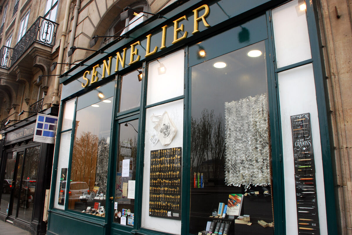 Sennelier storefront, Paris. Photo by BeyondDC, via Flickr.