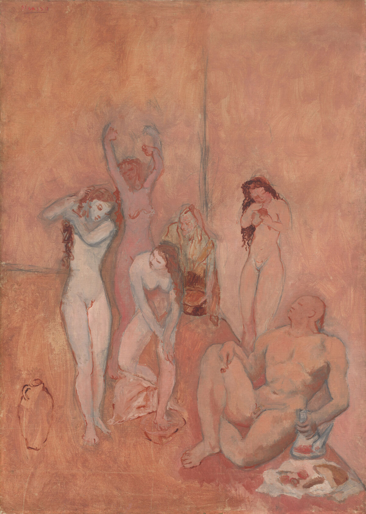 Pablo Picasso, The Harem, 1906. The Cleveland Museum of Art, Bequest of Leonard C. Hanna, Jr. © Estate of Pablo Picasso / Artists Rights Society (ARS), New York.