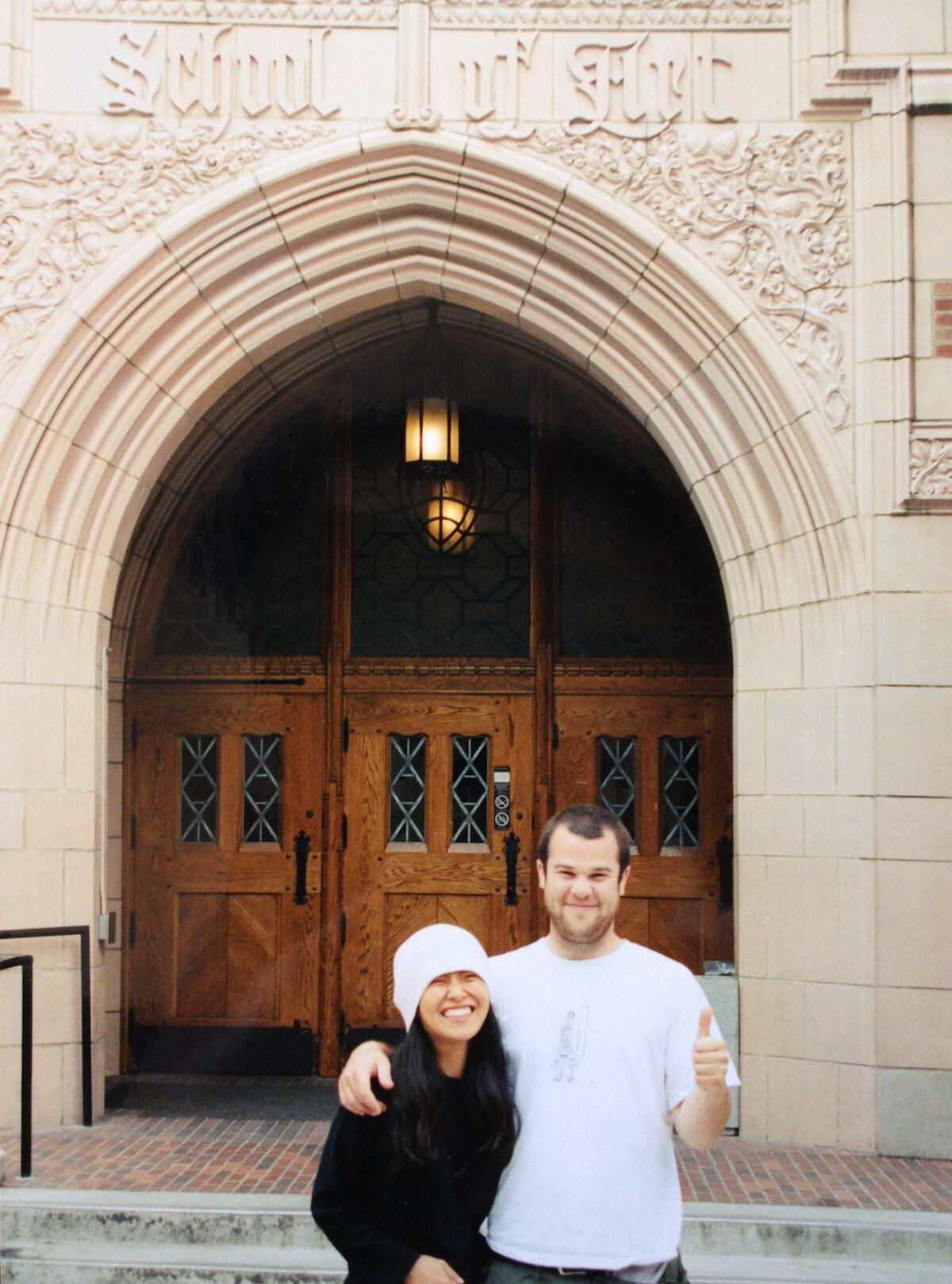 Jonas and Shio Kusaka at University of Washington, Seattle, WA, 2001. Courtesy of Wood Kusaka Studios.
