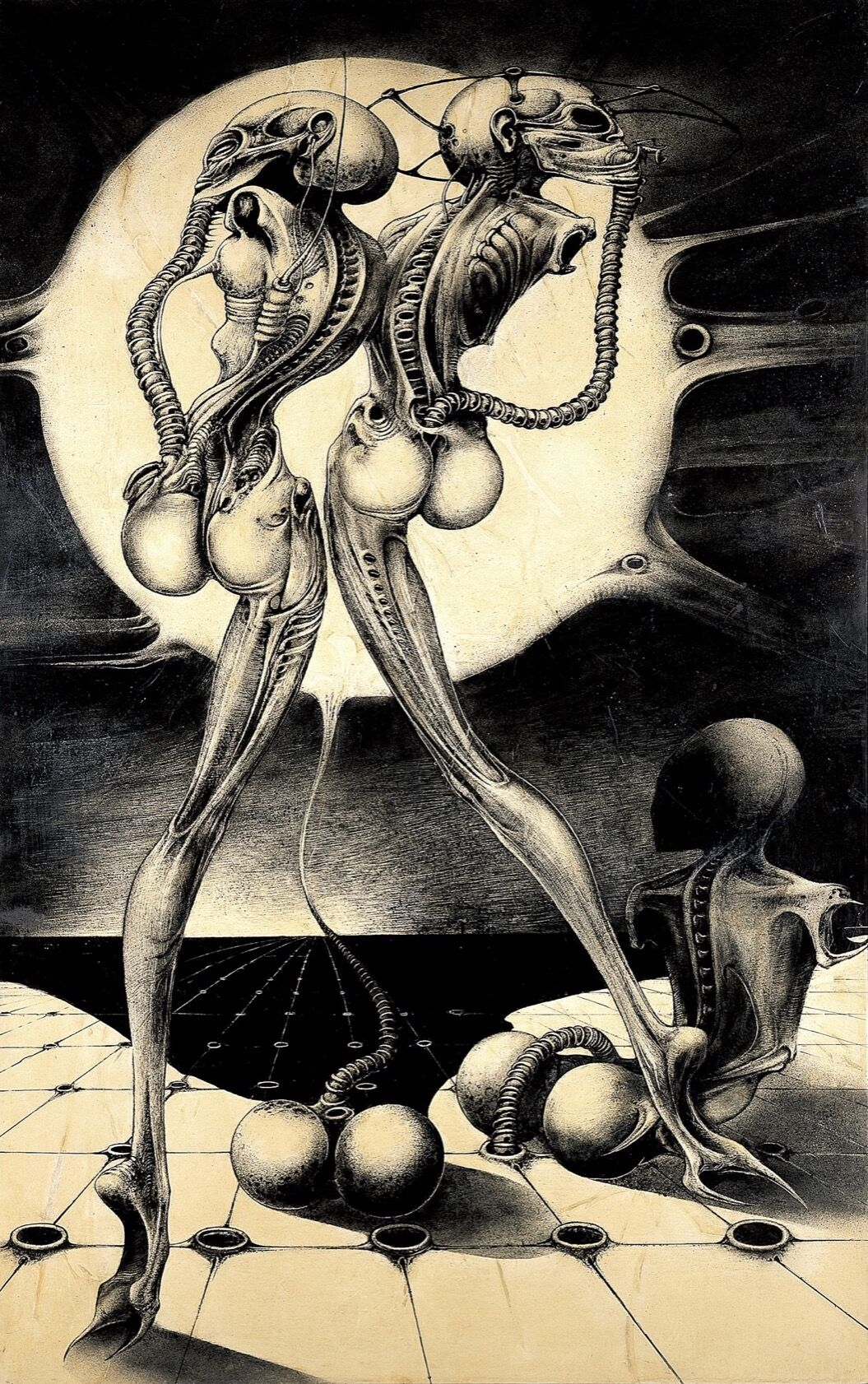 H.R. Giger, Atomic Children, 1968. Courtesy of the H.R. Giger Museum.