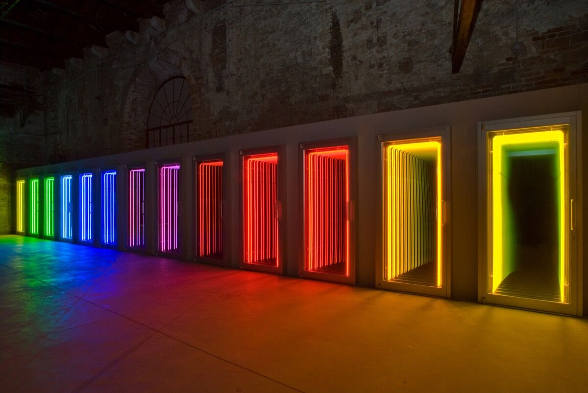 Work by Ivan Navarro. Courtesy of Let There Be Neon.