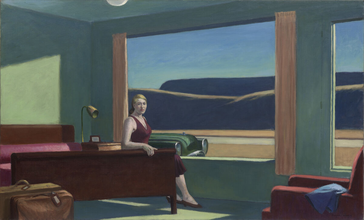 Edward Hopper, Western Motel, 1957. Yale University Art Gallery, New Haven, Bequest of Stephen C. Clark, B.A., 1903. © 2019 Heirs of Josephine N. Hopper / Artists Rights Society (ARS), NY.