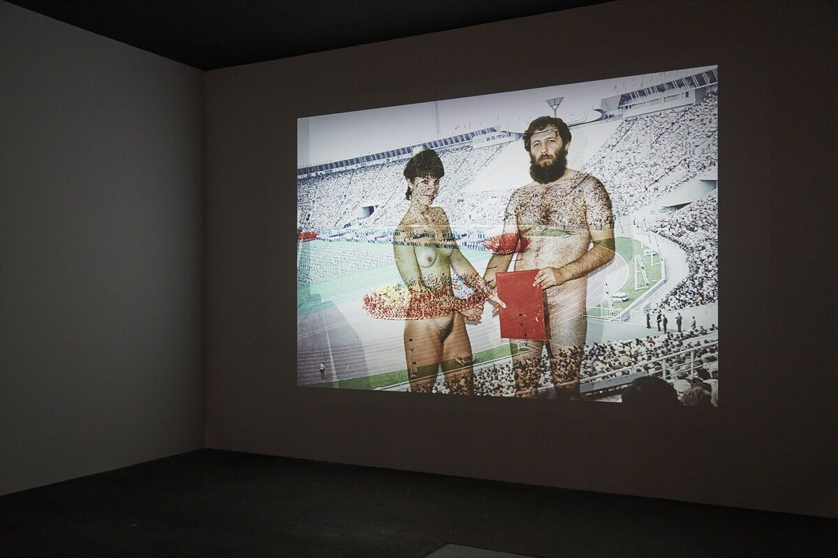 Installation view of Boris Mikhailov, Yesterday's Sandwich, late 1960s–1970s, presented by Sprovieri at Art Basel Unlimited, 2017.