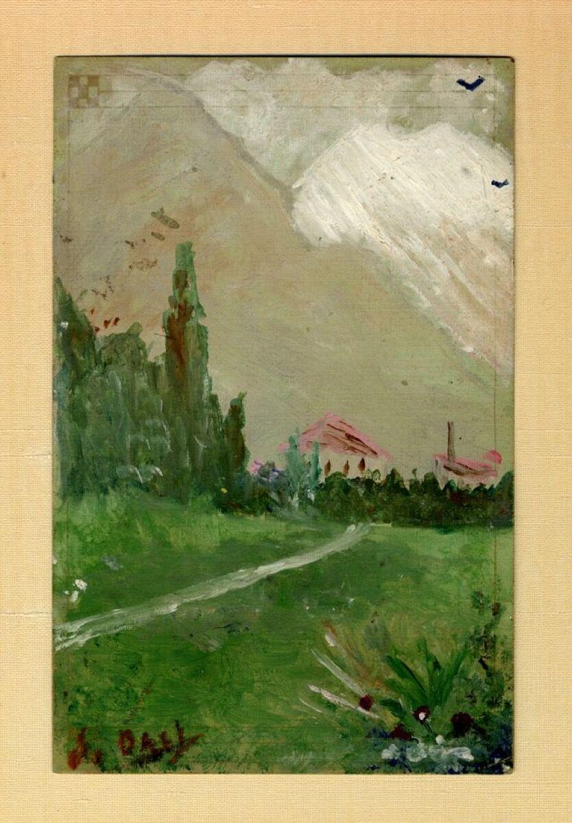 Salvador Dali Landscape Near Figueres 1910 1914