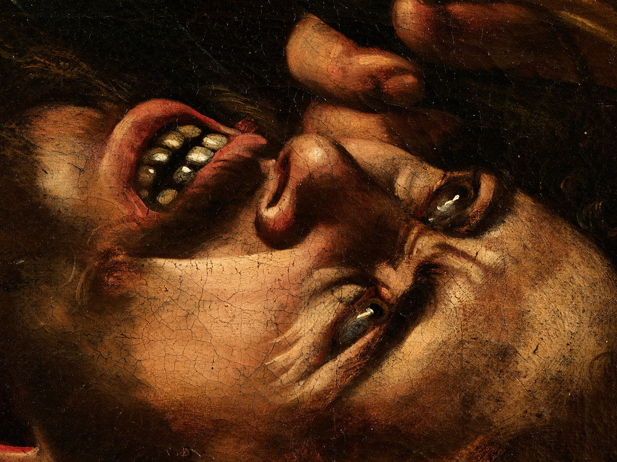 Detail of Caravaggio,  Judith and Holofernes,  ca. 1607.    Courtesy of Eric Turquin.