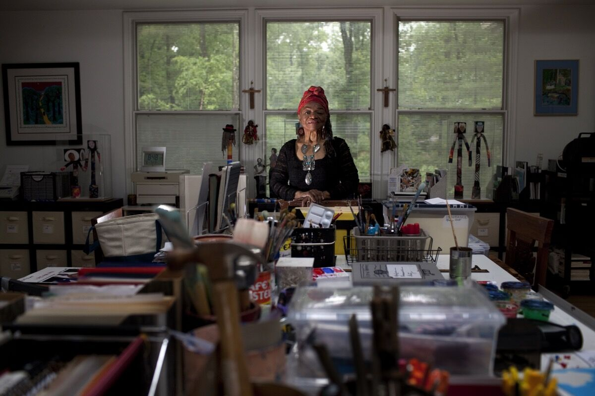 Portrait of Faith Ringgold. Photo by Melanie Burford/Prime for The Washington Post via Getty Images.