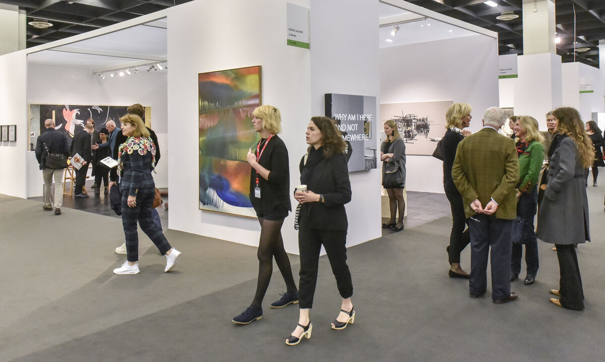 Installation view of KÖNIG GALERIE's booth at Art Cologne, 2016. Photo courtesy of Art Cologne.