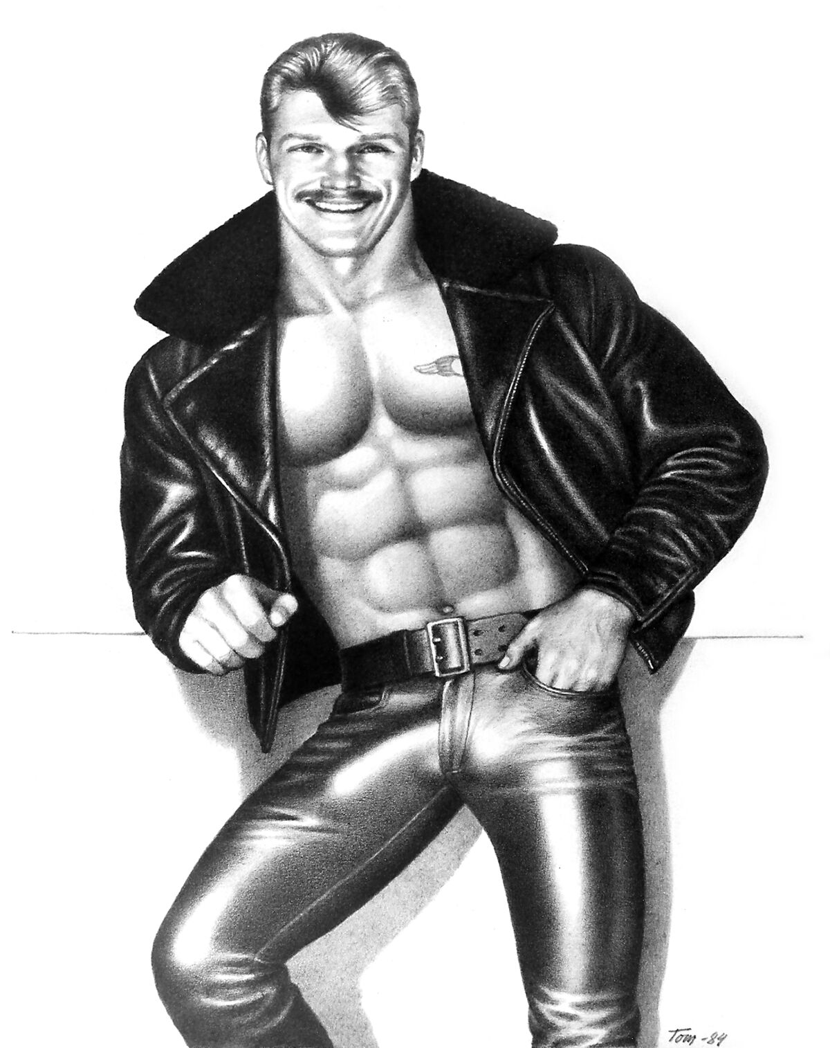 Tom of Finland, Untitled (Portrait of Durk Dehner), 1984. Courtesy of the Tom of Finland Foundation and David Kordansky Gallery, Los Angeles, CA.
