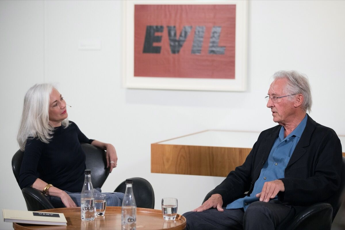 Mary Rozell in conversation with Ed Ruscha at the Louisiana Museum of Modern Art. Photo by David Parry. Courtesy of UBS Art Collection.