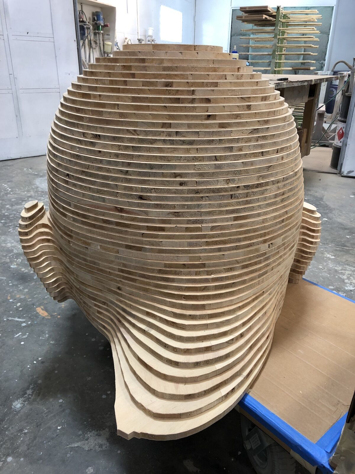 In-progress view of Mariposita,  2019. Courtesy of Chris Carnabuci.