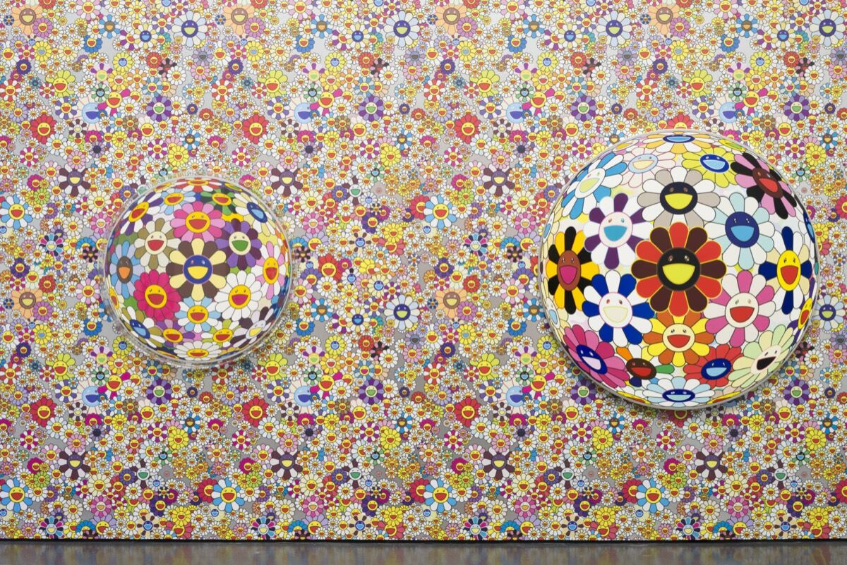 "Installation view of ""Takashi Murakami: The Octopus Eats its Own Leg"" at MCA Chicago, 2017. © MCA Chicago. Photo by Nathan Keay. Courtesy of the Museum of Contemporary Art Chicago."