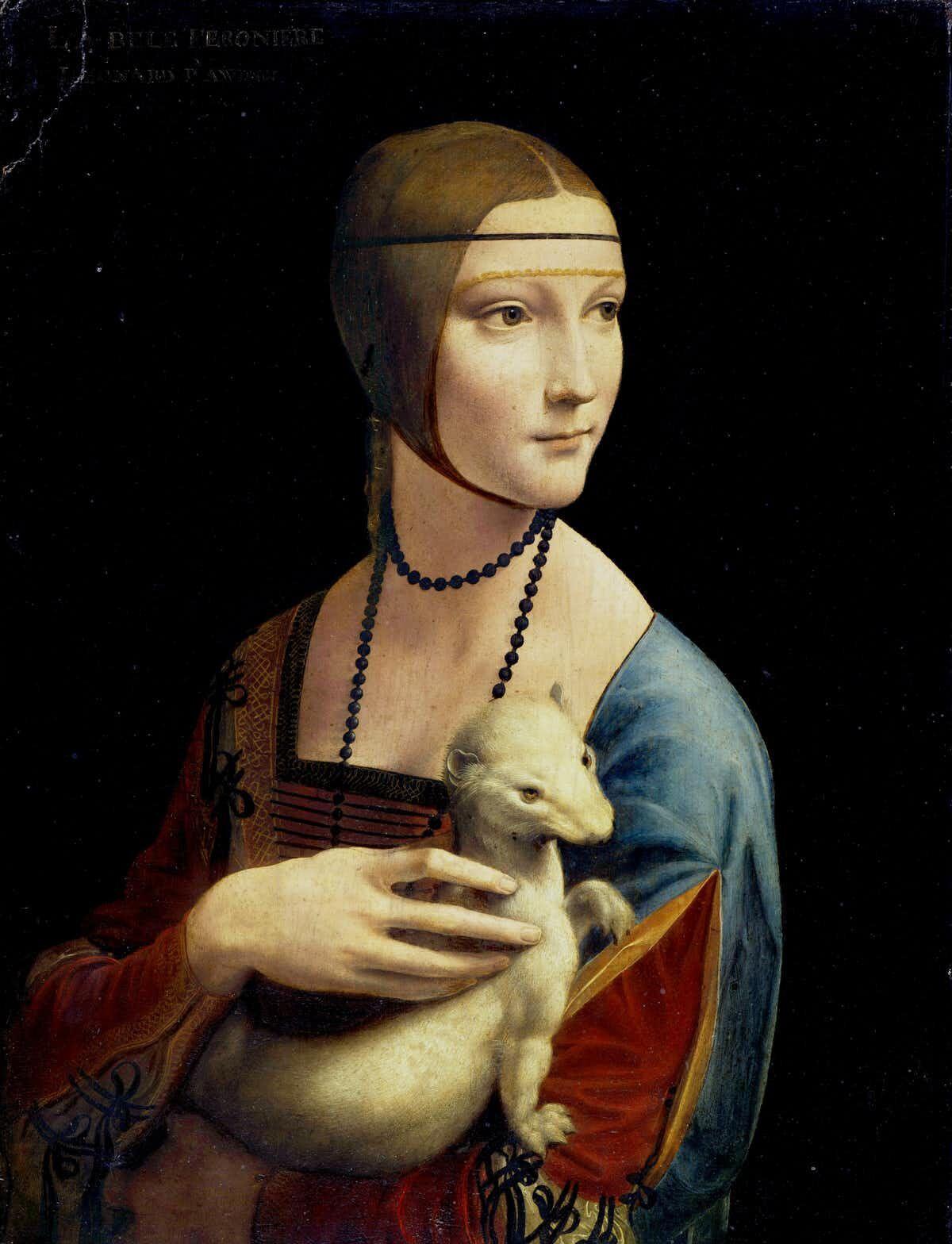 Leonardo da Vinci, Lady with an Ermine, 1489–90. Image via Wikimedia Commons.