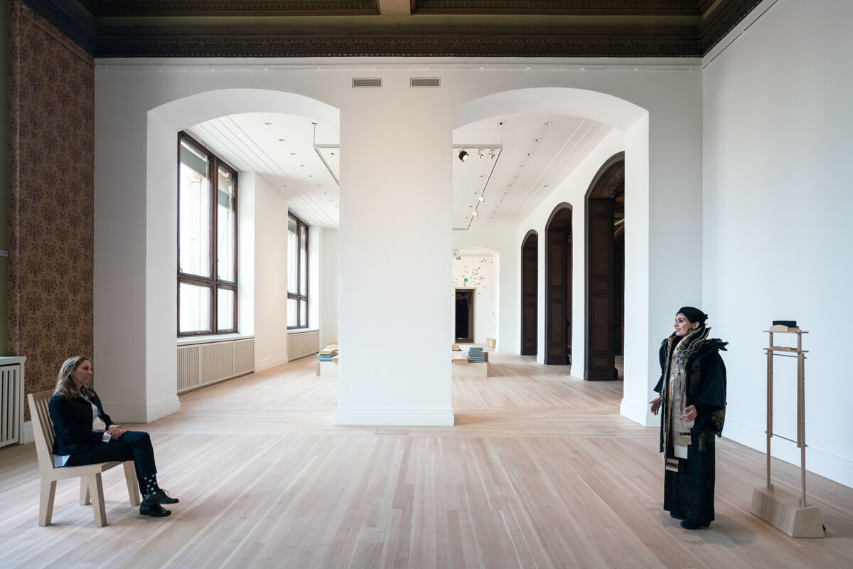 "Lee Mingwei, installation view of Sonic Blossom, 2013/2020, in ""Lee Mingwei: 禮 Li, Gifts and Rituals"" at Gropius Bau, 2020. Photo by Laura Fiorio. Courtesy of Gropius Bau, Berlin."