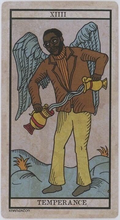 King Khan, card from the Black Power Tarot.