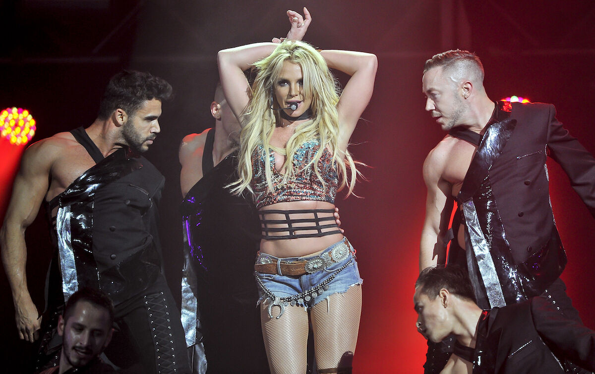 Britney Spears performing in 2016. Photo by Steve Jennings/WireImage.
