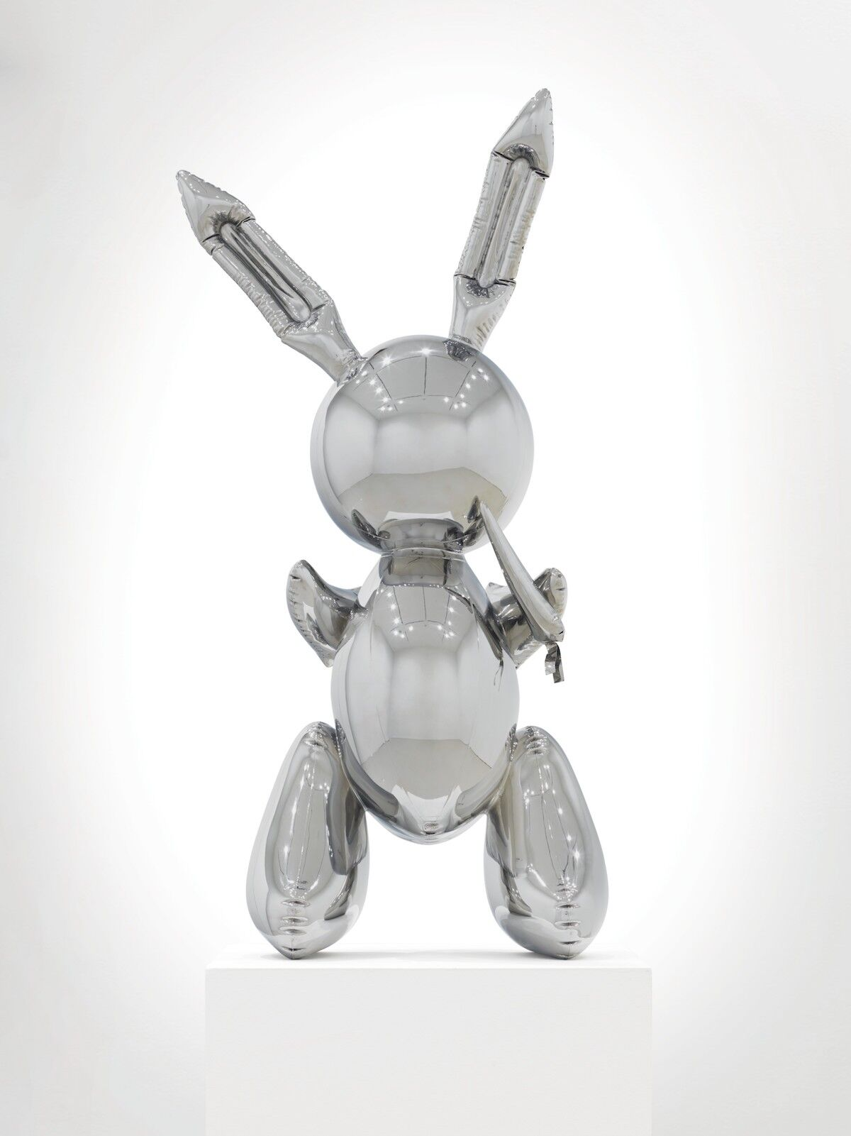 Jeff Koons, Rabbit, 1986, stainless steel. This work is number two from an edition of three plus one artist's proof. Est. $50 million–$70 million. Courtesy Christie's Images Ltd. 2019.