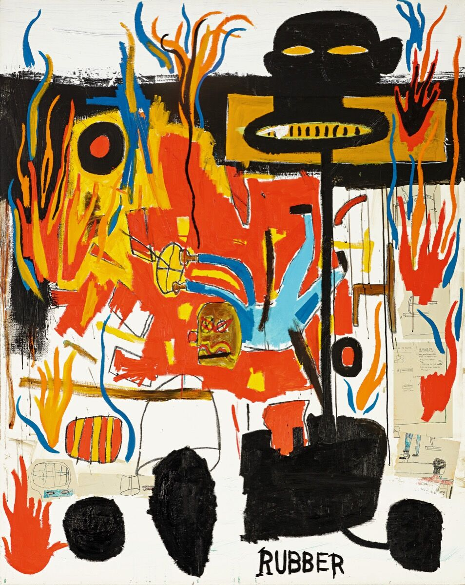 Jean-Michel Basquiat, Rubber, 1985. Courtesy of Sotheby's.