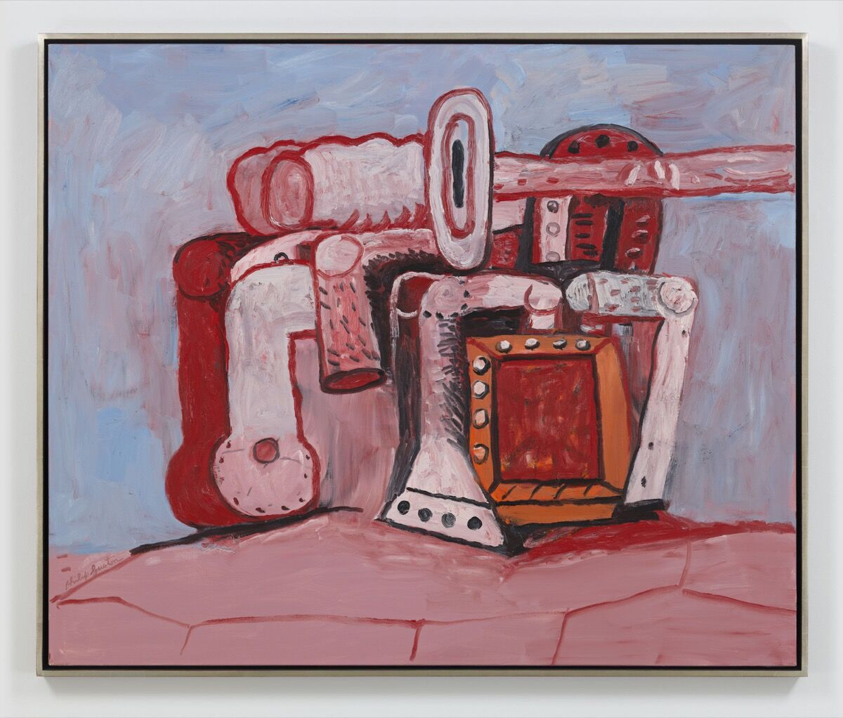 Philip Guston, Forms of Rock Ledge, 1975. Courtesy of Hauser & Wirth.