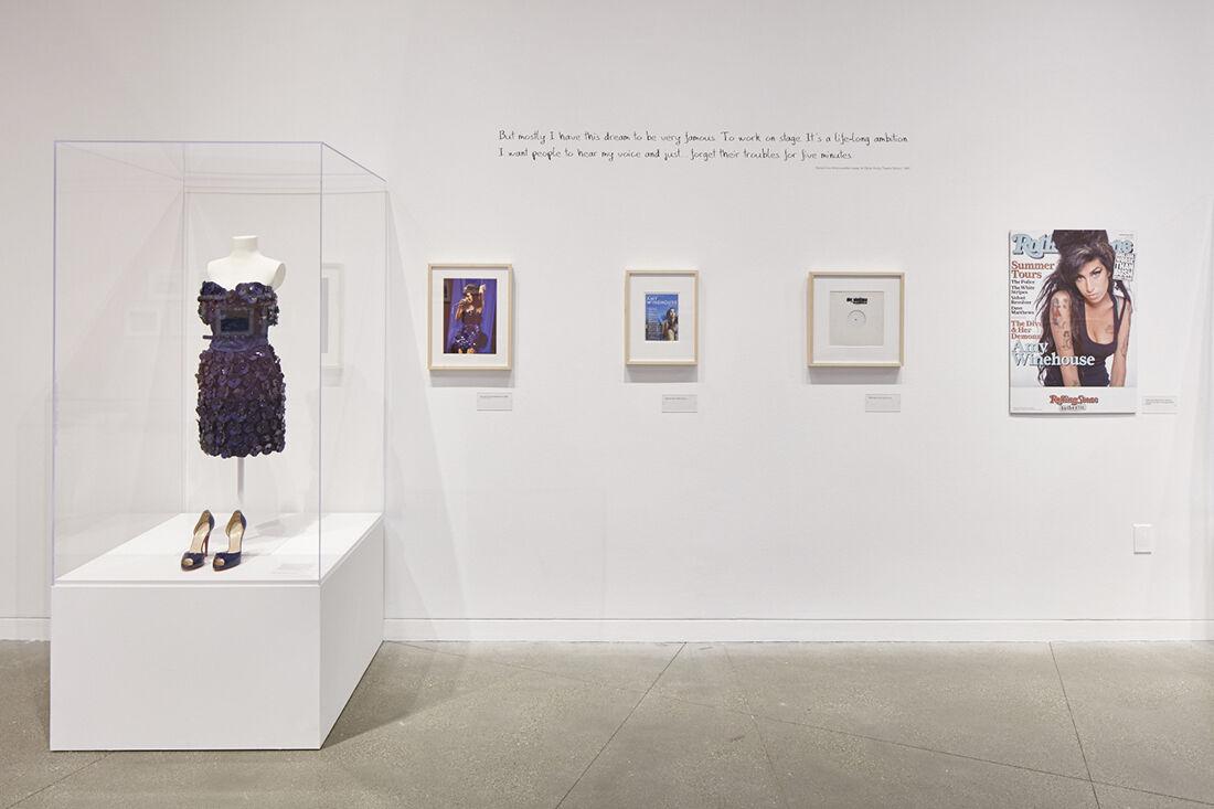 """Amy Winehouse: A Family Portrait"" (2015) at Contemporary Jewish Museum, San Francisco. Photo: Johnna Arnold."