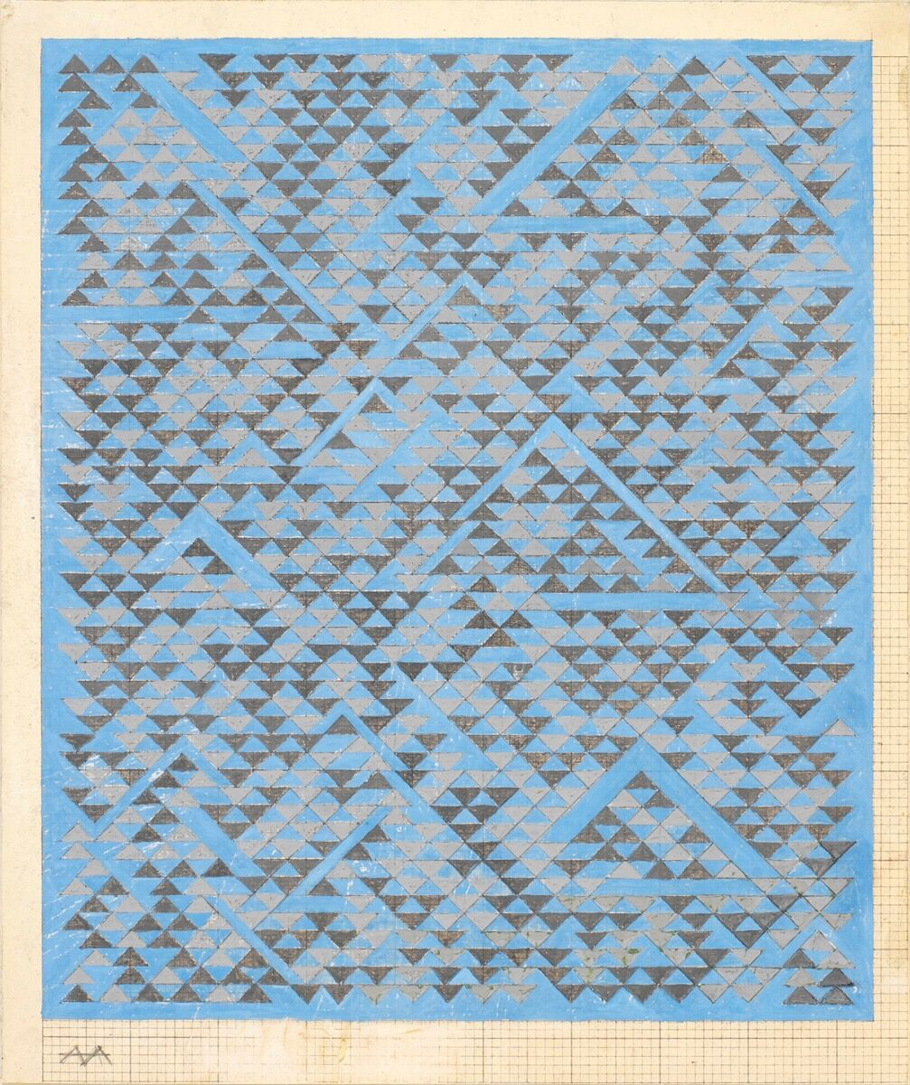 Anni Albers, Study for A, 1968. © 2017 The Josef and Anni Albers Foundation/Artists Rights Society (ARS), New York Photo: Tim Nighswander/ Imaging 4 Art.