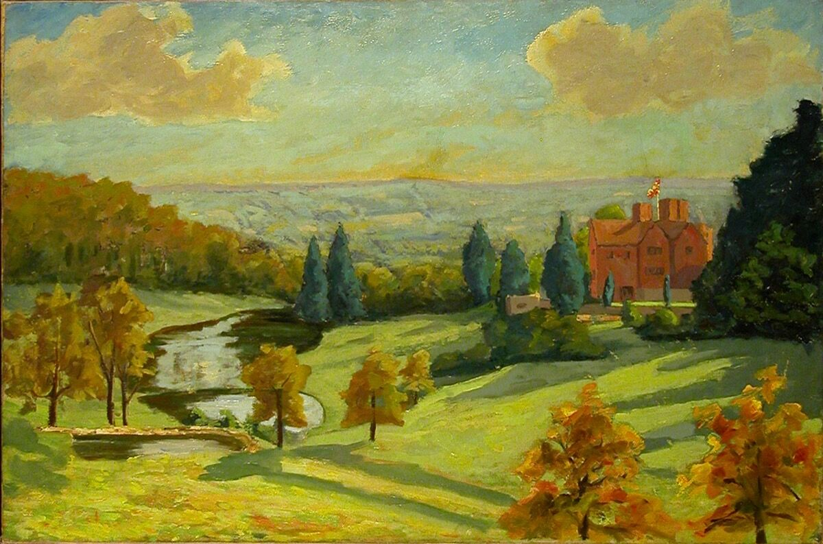 Sir Winston Churchill, View of Chartwell. © National Trust / Charles Thomas.