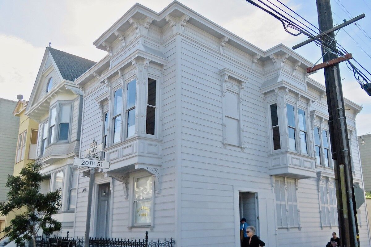 The former home of artist David Ireland, now the 500 Capp Street Foundation, in San Francisco. Photo by Fabrice Florin, via Flickr.