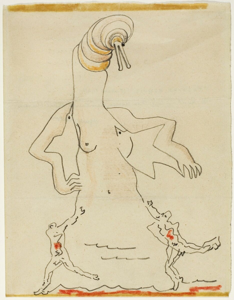 André Masson, Max Ernst, and Max Morise, Exquisite Corpse, 1927. © 2018 Artists Rights Society (ARS), New York / ADAGP, Paris. Courtesy of the Art Institute of Chicago.