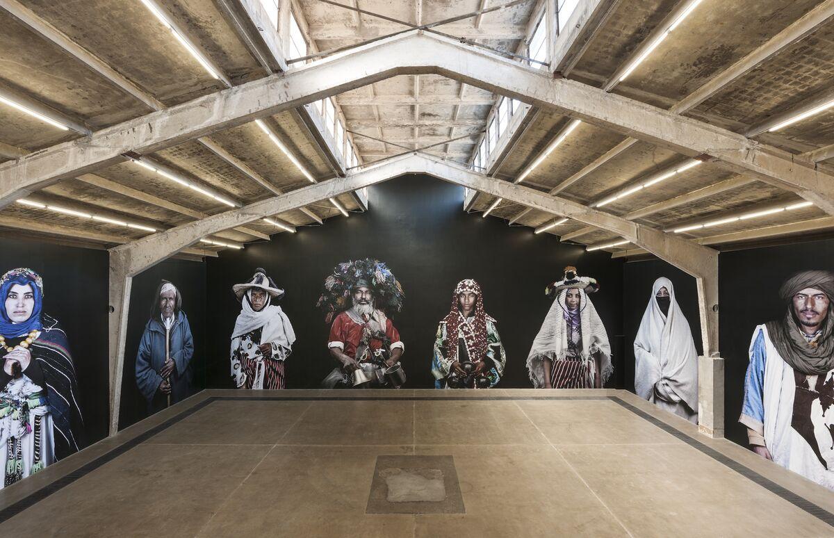 "Installation view of Leila Alaoui, ""Ya Rayah,"" at Galleria Continua, 2019. Courtesy of Galleria Continua."