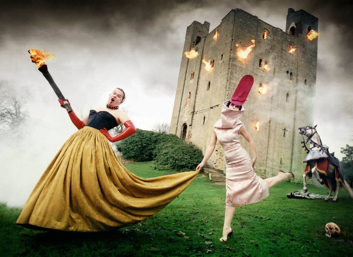 David LaChapelle, Alexander McQueen and Isabella Blow: Burning Down the House, 1996. Image courtesy of Staley-Wise Gallery.