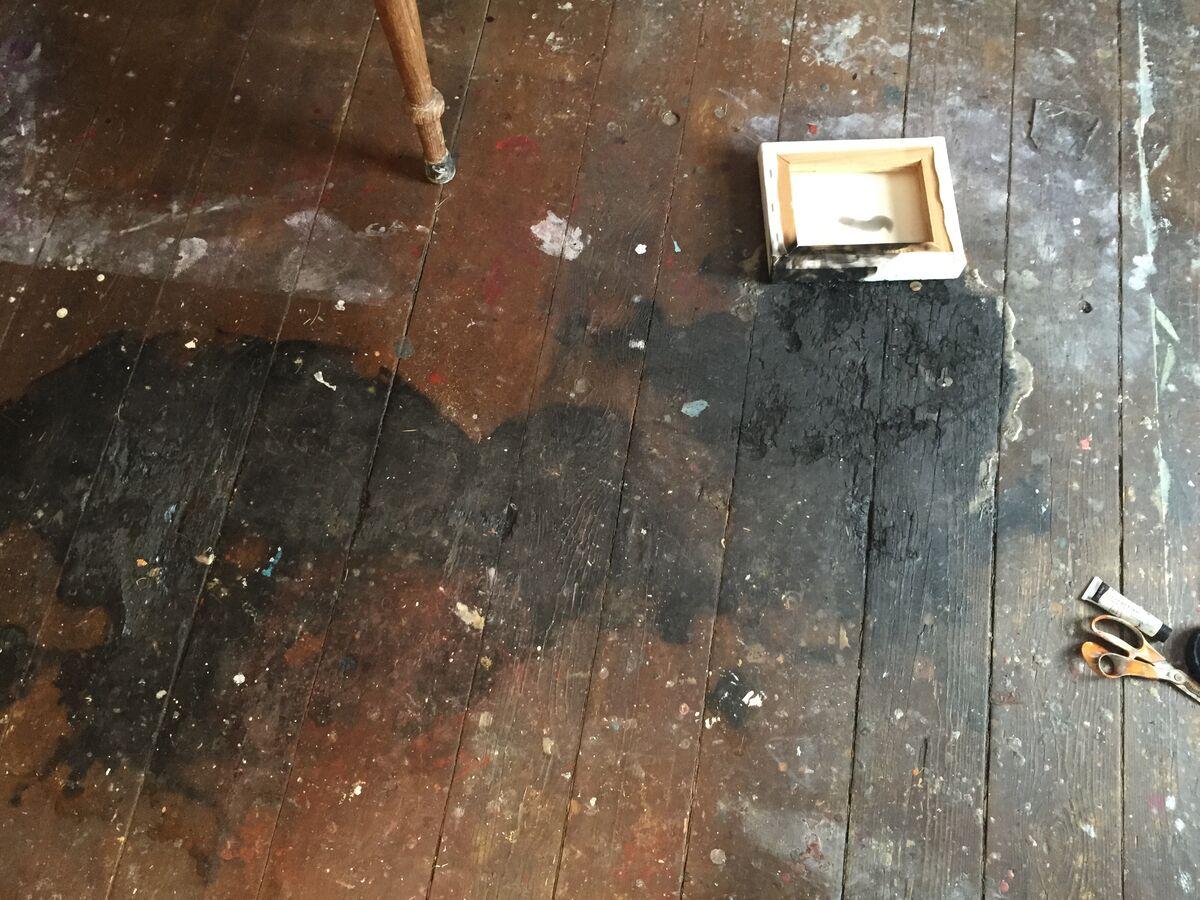 The floor of Catherine Howe's studio, Germantown, 2011. Photo courtesy of the artist.