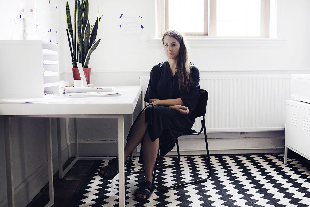 Portrait of Kate Cooper by Elliot Kennedy for Artsy.