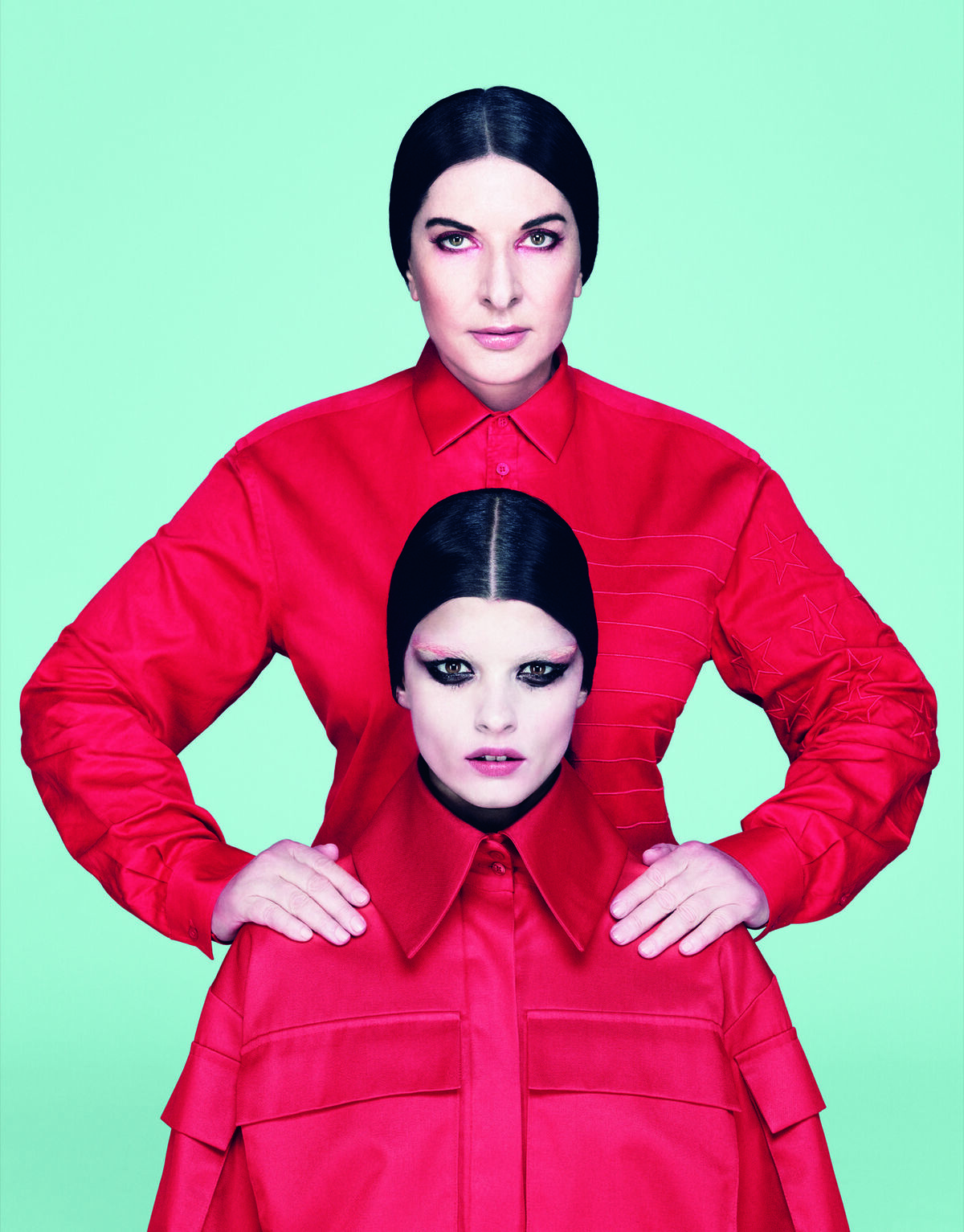 2d941c5542fa Dusan Reljin, Marina Abramović and Crystal Renn for Vogue Ukraine, 2014,  from ""